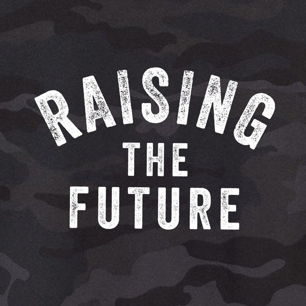 Raising The Future Cropped Camo Hoodie