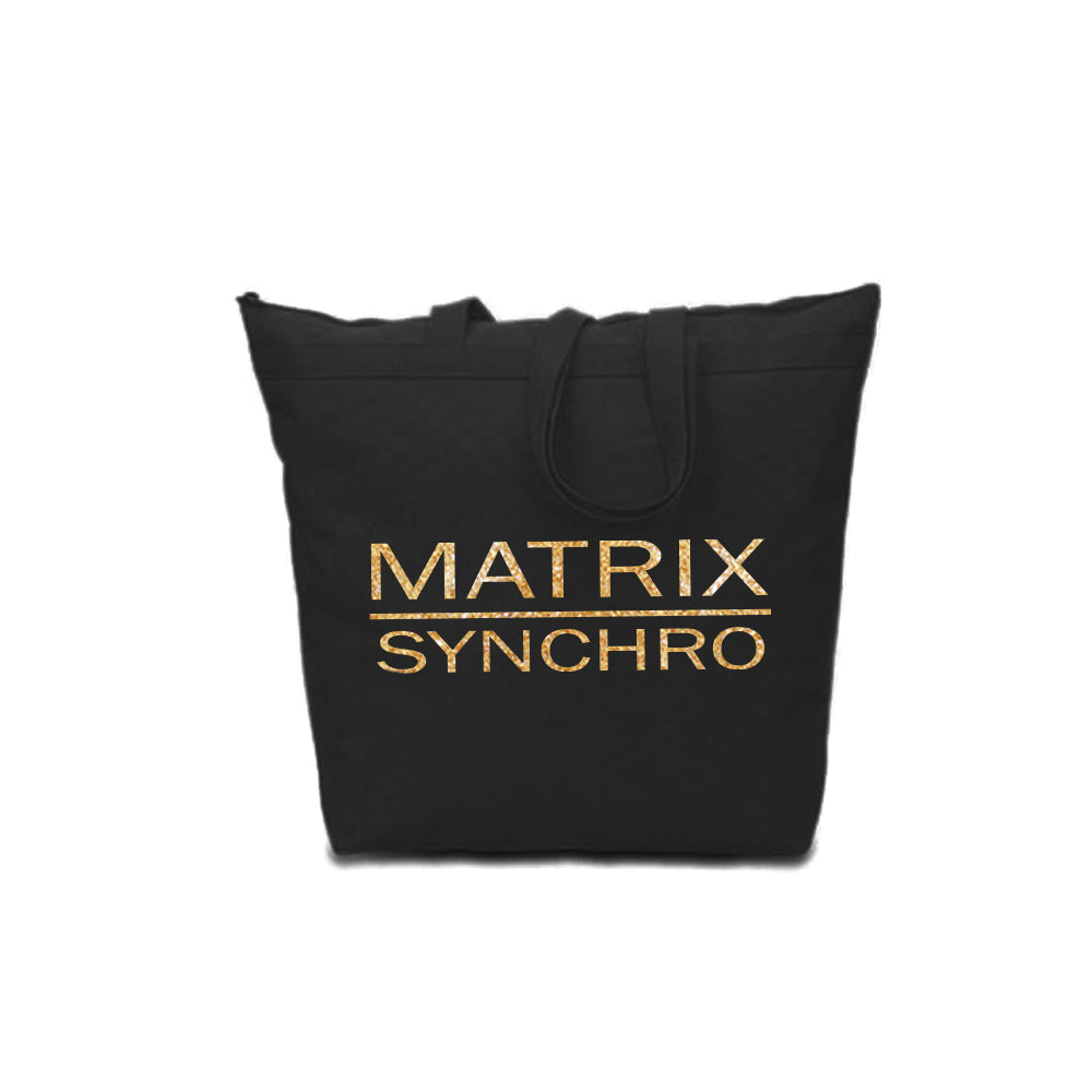 Matrix Large Zipper Tote