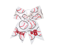 Custom Baseball/Softball Cheer Hair Bow
