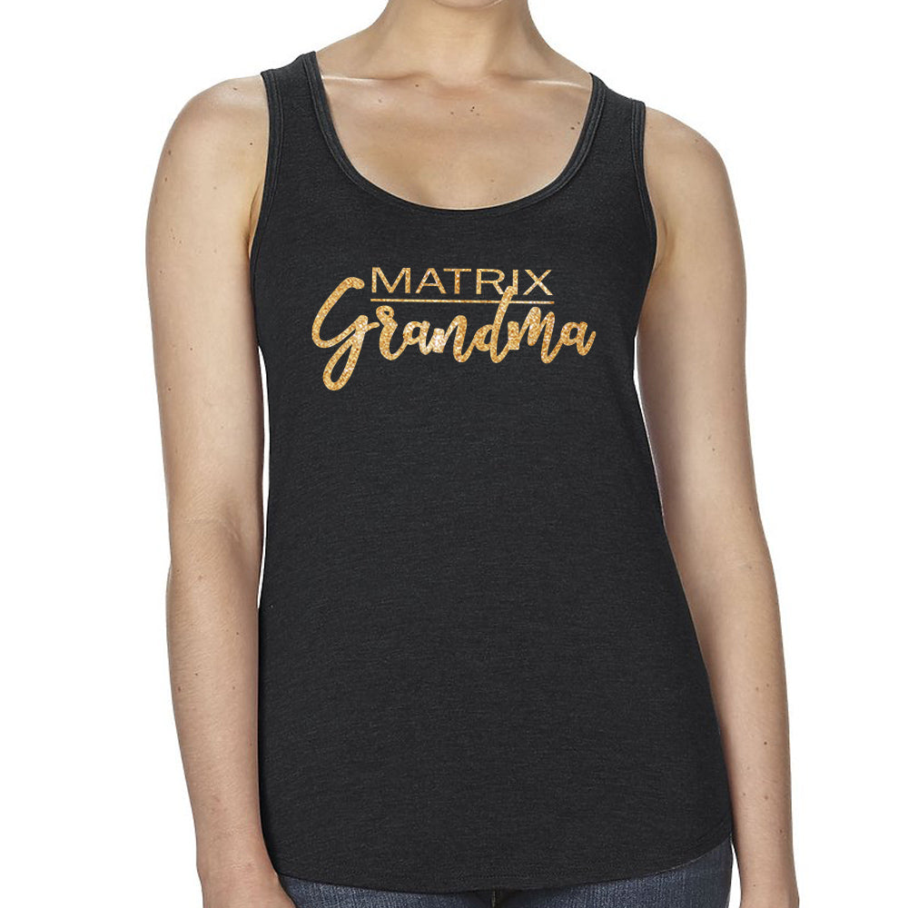 Matrix Grandma Fitted Racerback Tee