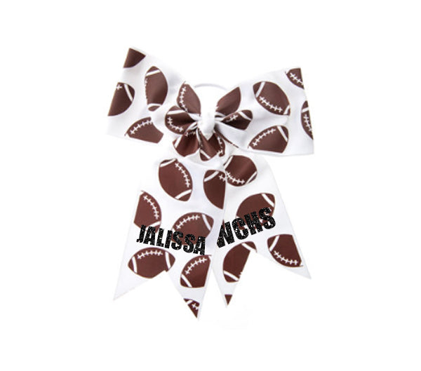 Custom Football Cheer Hair Bow