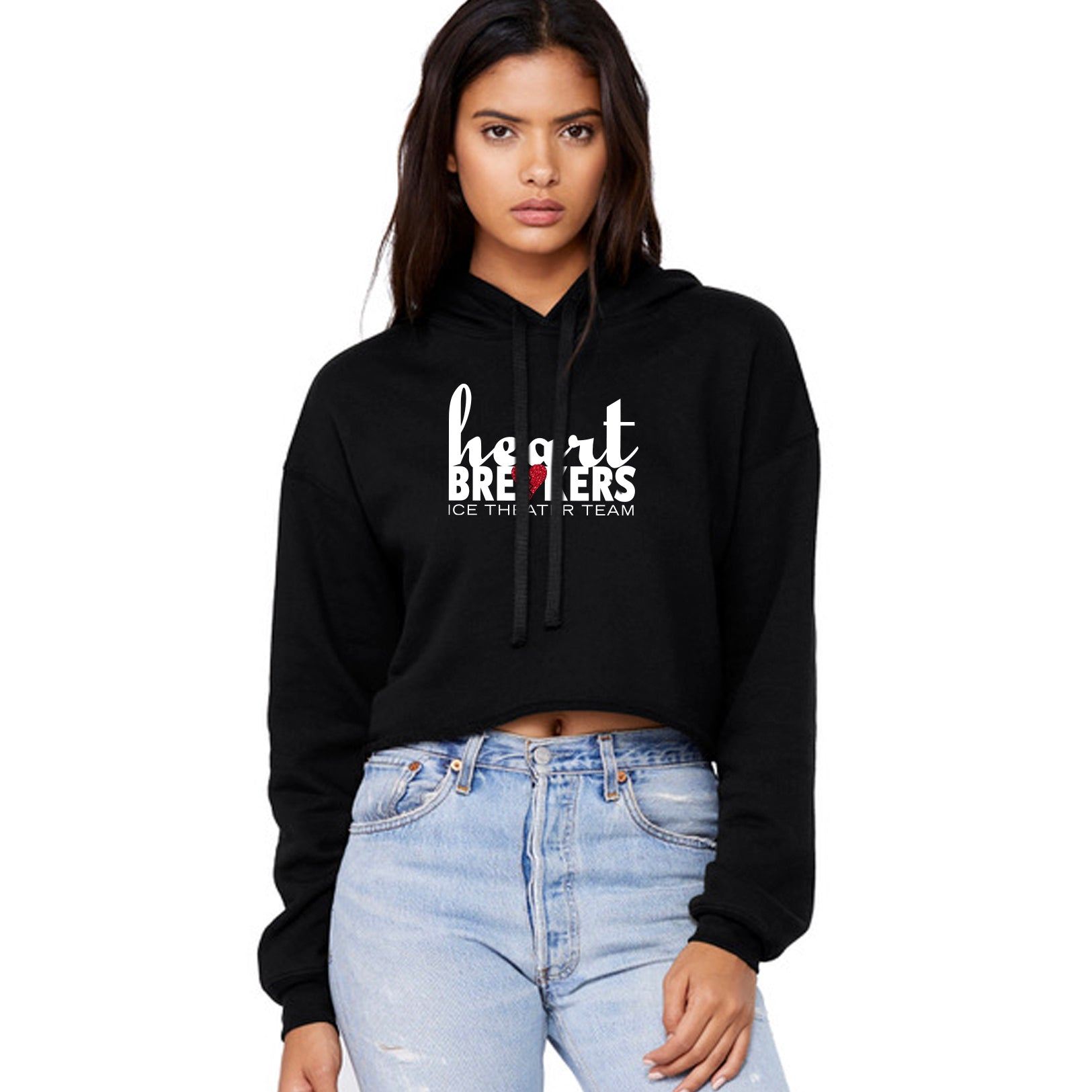 Heartbreakers Cropped Hooded Sweatshirt