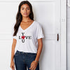 Love You Slouchy V Neck Tee