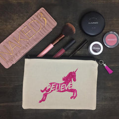 Believe (unicorn) Makeup Bag