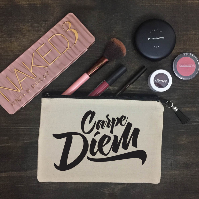 Carpe Diem Makeup Bag