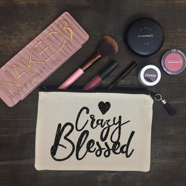 Crazy Blessed Makeup Bag