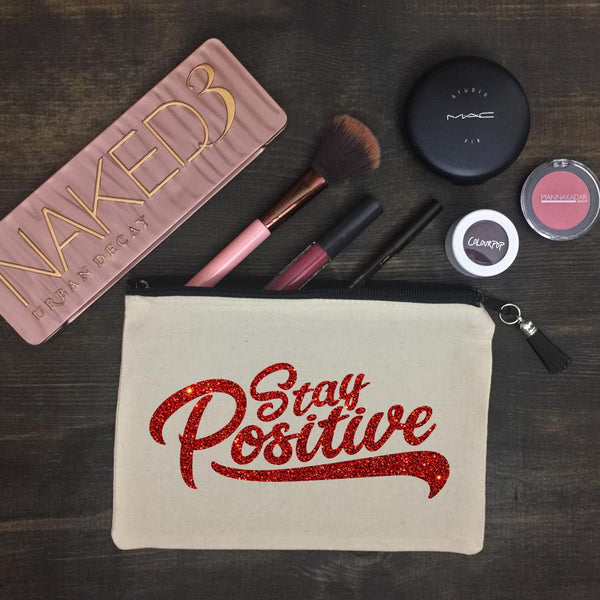 Stay Positive Makeup Bag