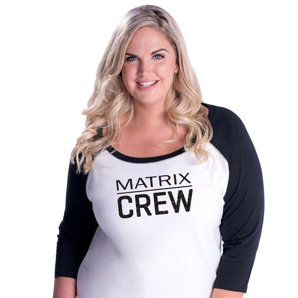 Matrix Crew Curvy Baseball Tee