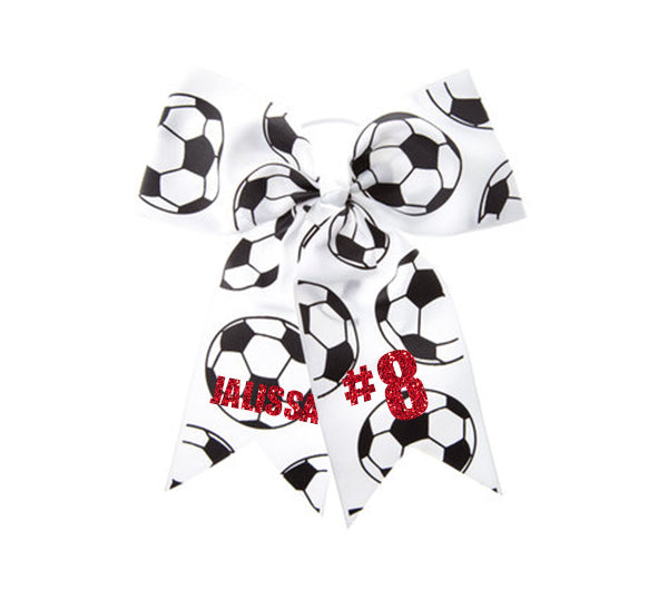 Custom Soccer Cheer Hair Bow