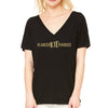 Cancer Kid Famous Slouchy V Neck Tee