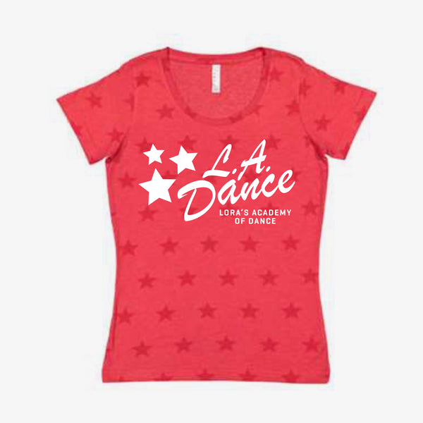LA Dance Star Scoop Neck Tee