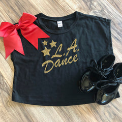 LA Dance Cropped Tee. An on trend top, this boxy tee is super fun and the essence of effortless cool. Designed with a slightly cropped hem and a simple scoop neck style, this casual top is made from sheer jersey for an ultra-soft touch.