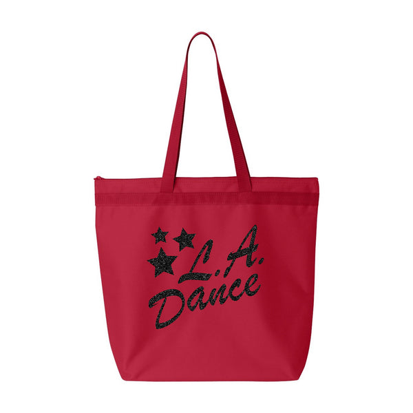 LA Dance Arizona dance gear. Large Zip bag that can be customize to show your support of your favorite dance studio.
