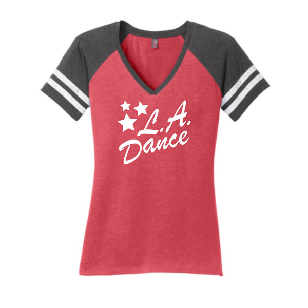 LA Dance V Neck Competition Tee