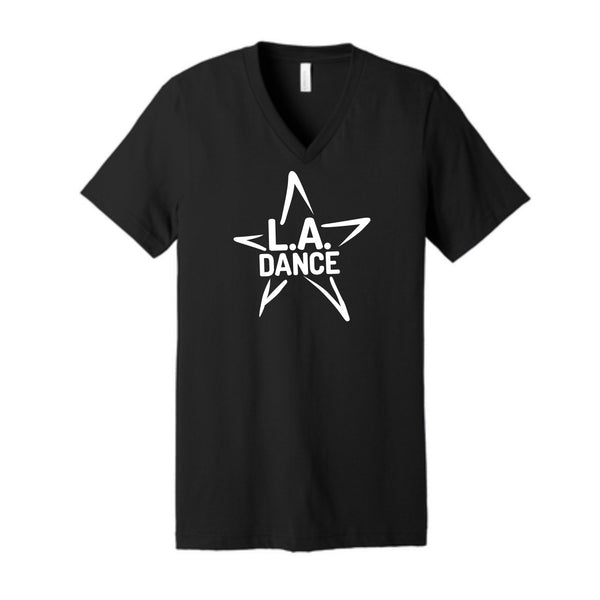 LA Dance (star) Unisex V Neck Tee
