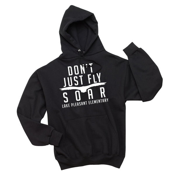 Black Adult Pullover Hooded Sweatshirt (7 different design options)