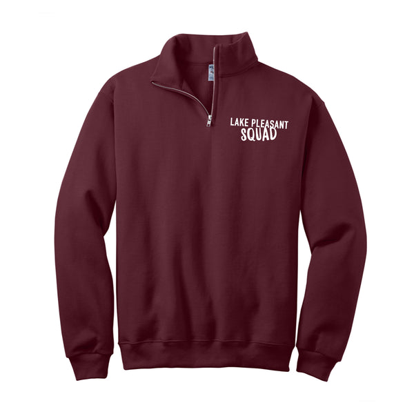 Adult Maroon NuBlend® 1/4-Zip Cadet Collar Sweatshirt (7 different design options)