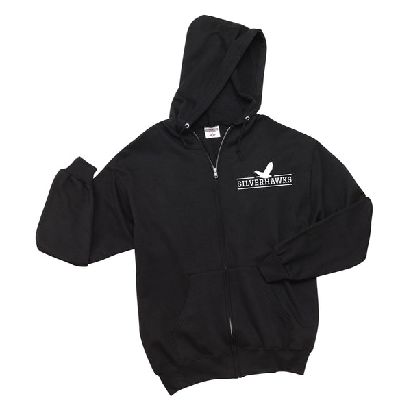 Youth Black NuBlend® Full-Zip Hooded Sweatshirt (7 different design options)
