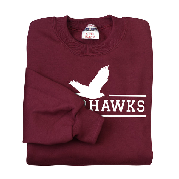 Adult Maroon NuBlend® Crewneck Sweatshirt (7 different design options)