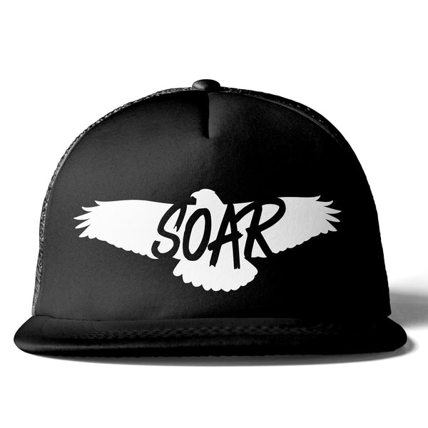 All Black Trucker Hat (6 different design options)