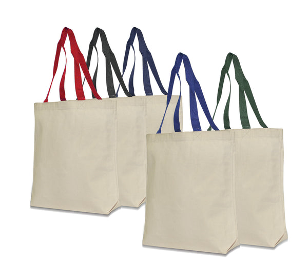 Groceries and Wine Canvas Bag