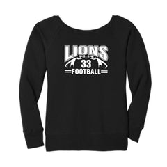 Lions Football Women's Slouchy Sweatshirt