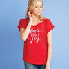 Love Peace Joy Dolman Tee