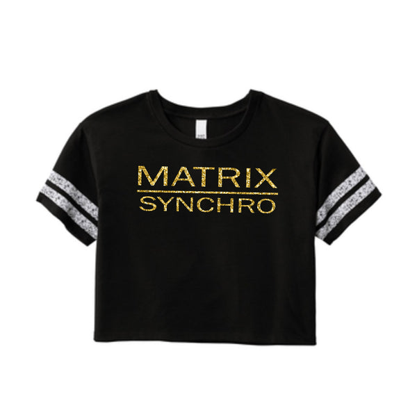 Matrix Women's Score card Crop Tee