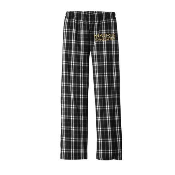 Matrix Synchro Women's Flannel Pajama Plaid Pant