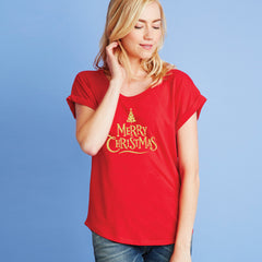 Merry Christmas (tree) Dolman Tee