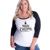 Merry Christmas (tree) Curvy Baseball Tee