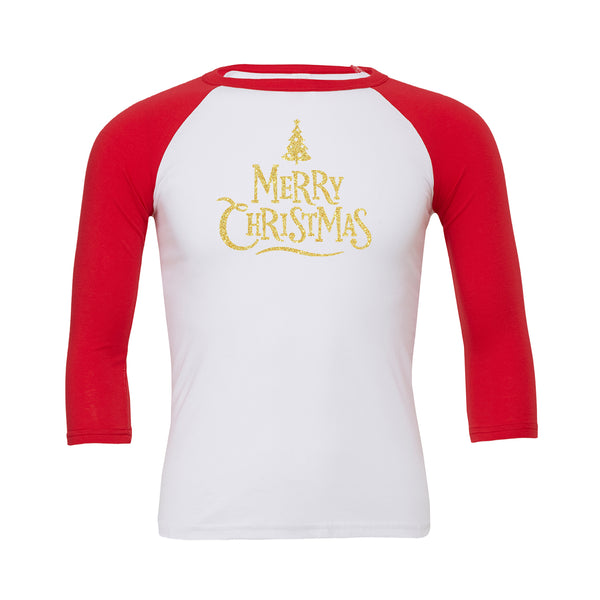 Merry Christmas (Tree) Baseball Tee