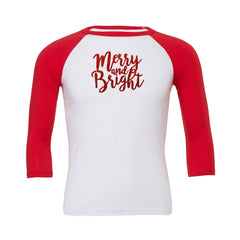 Merry and Bright Baseball Tee