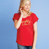 Naughty and I know it Dolman Tee