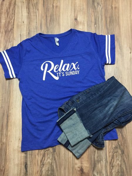Relax it's Sunday football tee