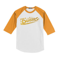 Star Dazzlers Adult Colorblock Raglan Baseball Jersey