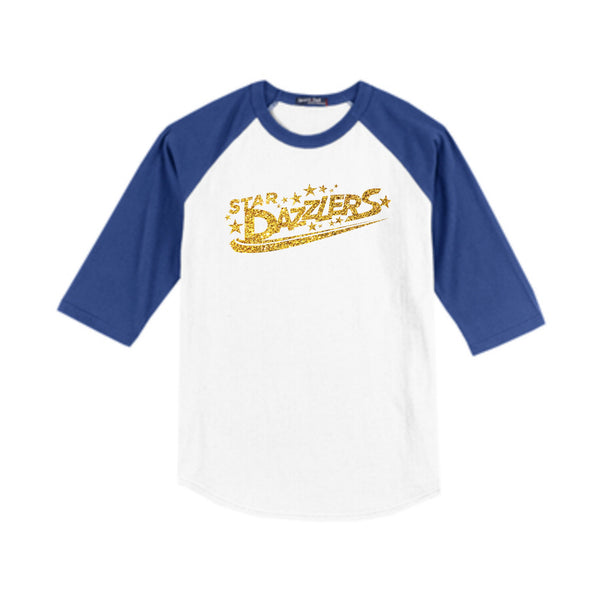 Star Dazzlers Youth Colorblock Raglan Baseball Jersey