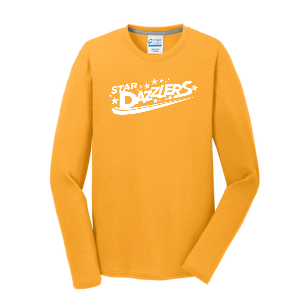 Star Dazzlers Adult Long Sleeve Performance Blend Tee