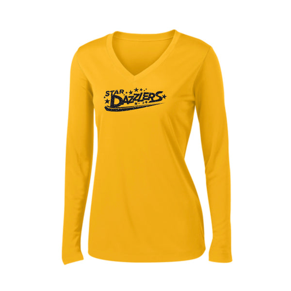 Star Dazzlers Ladies Long Sleeve PosiCharge® Competitor™ V-Neck Tee