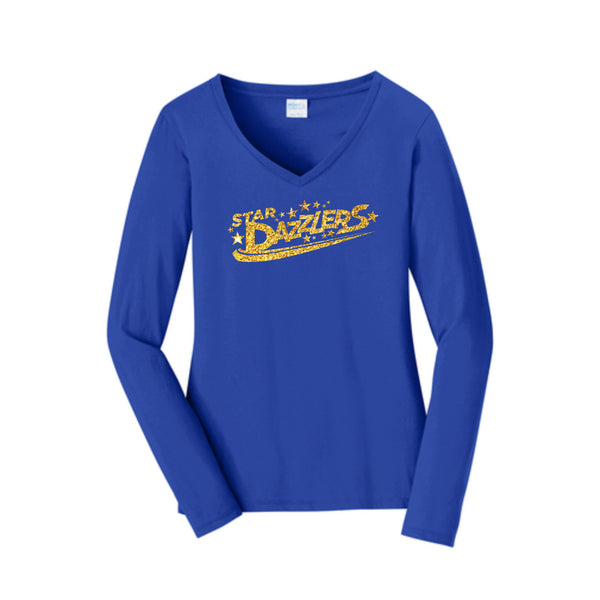 Star Dazzler Long Sleeve Fan Favorite™ V-Neck Tee
