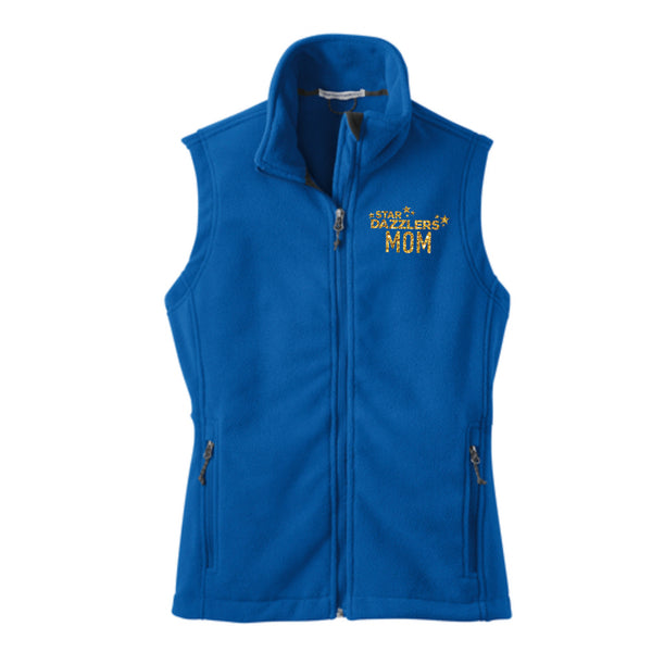 Star Dazzler Mom Ladies Fleece Vest
