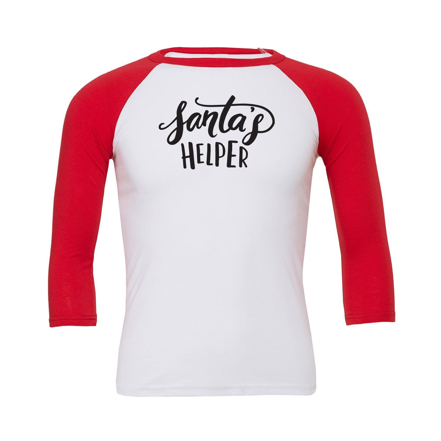 Santa's Helper Baseball Tee