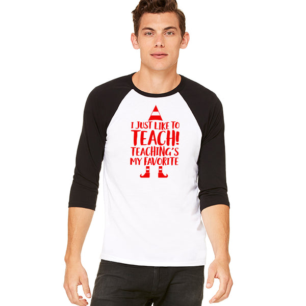 Mens Teaching Is My Favorite Baseball Tee