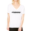 Cancer Kid Famous Team Dempsey Slouchy V Neck Tee