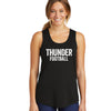 Women's Distressed Thunder Football Racerback Tank