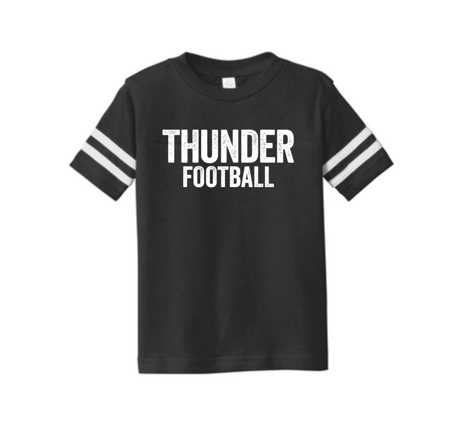 Thunder Distressed Toddler Football Tee