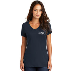 Boswell ED Nurse Flag Ladies V Neck Tee