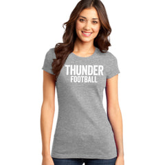 Women's Fitted Distressed Thunder Football Tee