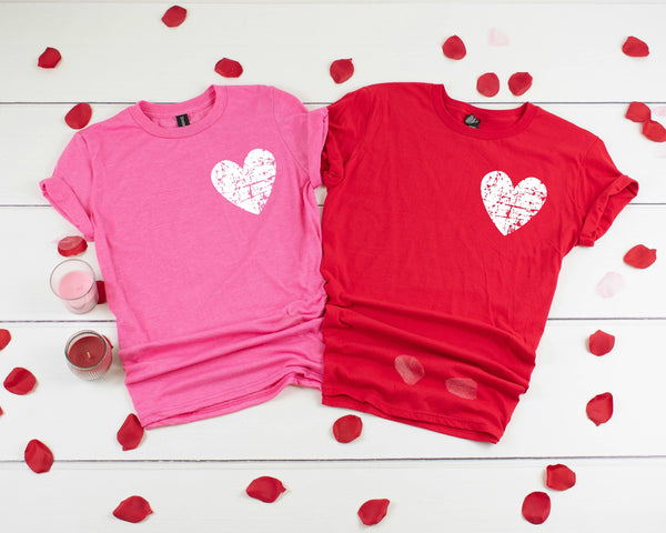 Distressed Heart Pocket Tee