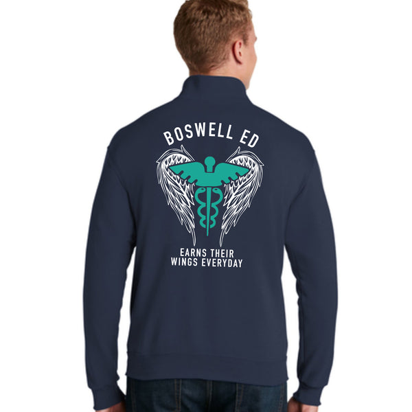 Boswell ED Earns Their Wings Everyday 1/4 Zip Pullover